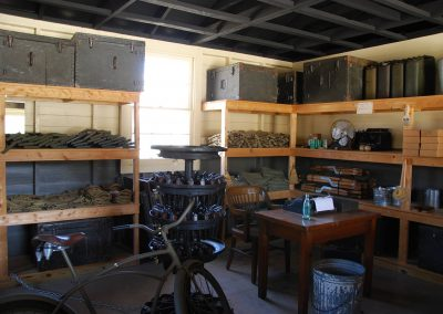 World War II Company Street: Supply Room