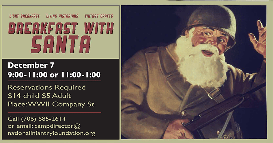 Breakfast with Santa at WWII Company Street